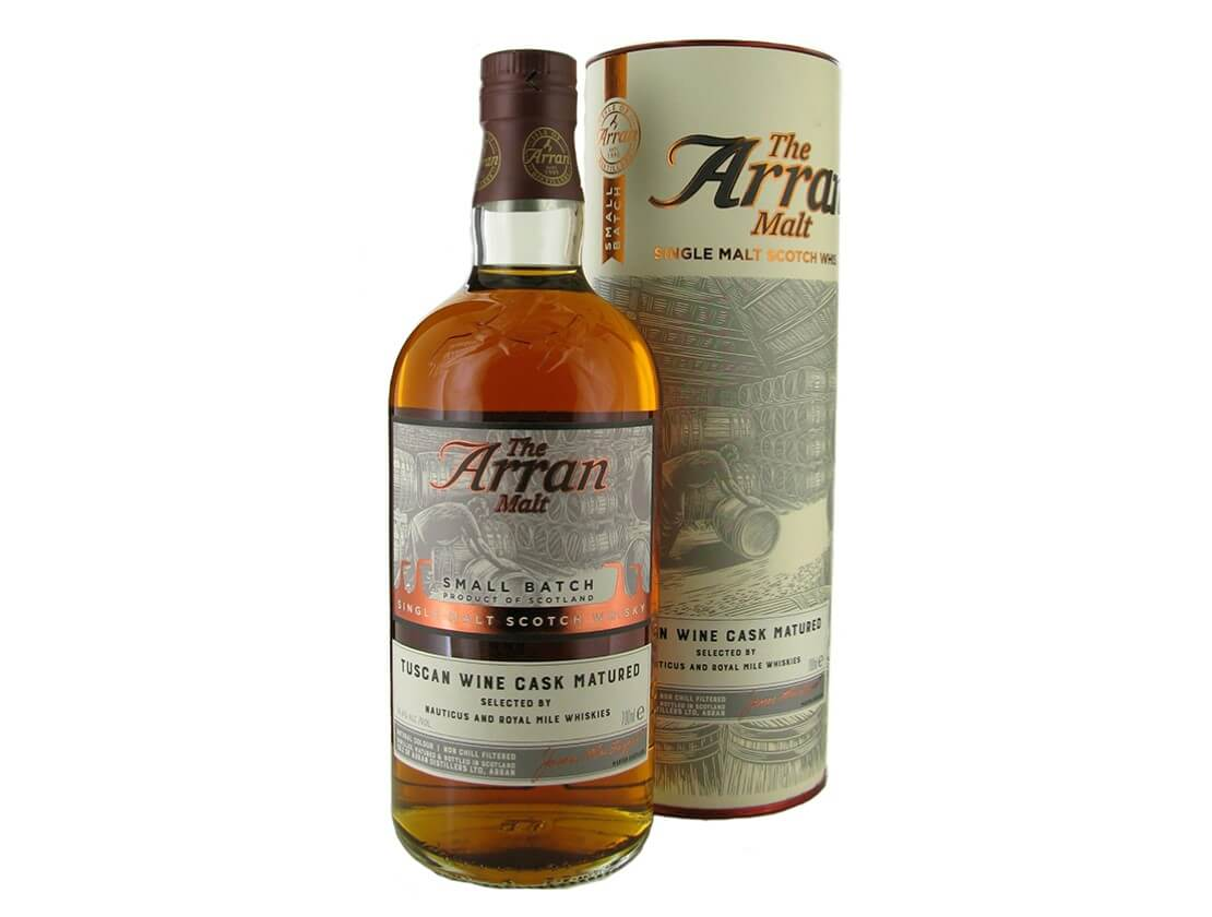 Royal Mile Whiskies and Nauticus launch Tuscan wine cask Arran