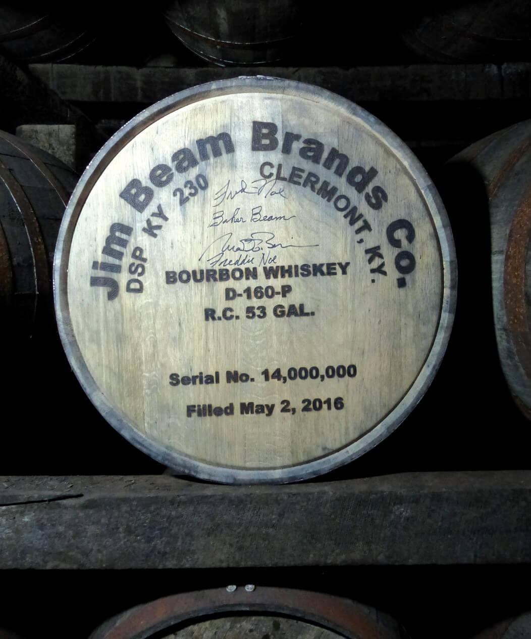 A Jim Beam cask