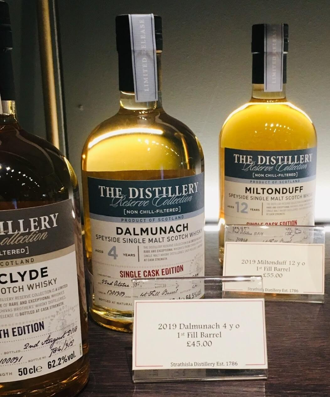 The Dalmunach release on sale at Strathisla Distillery Visitor Centre
