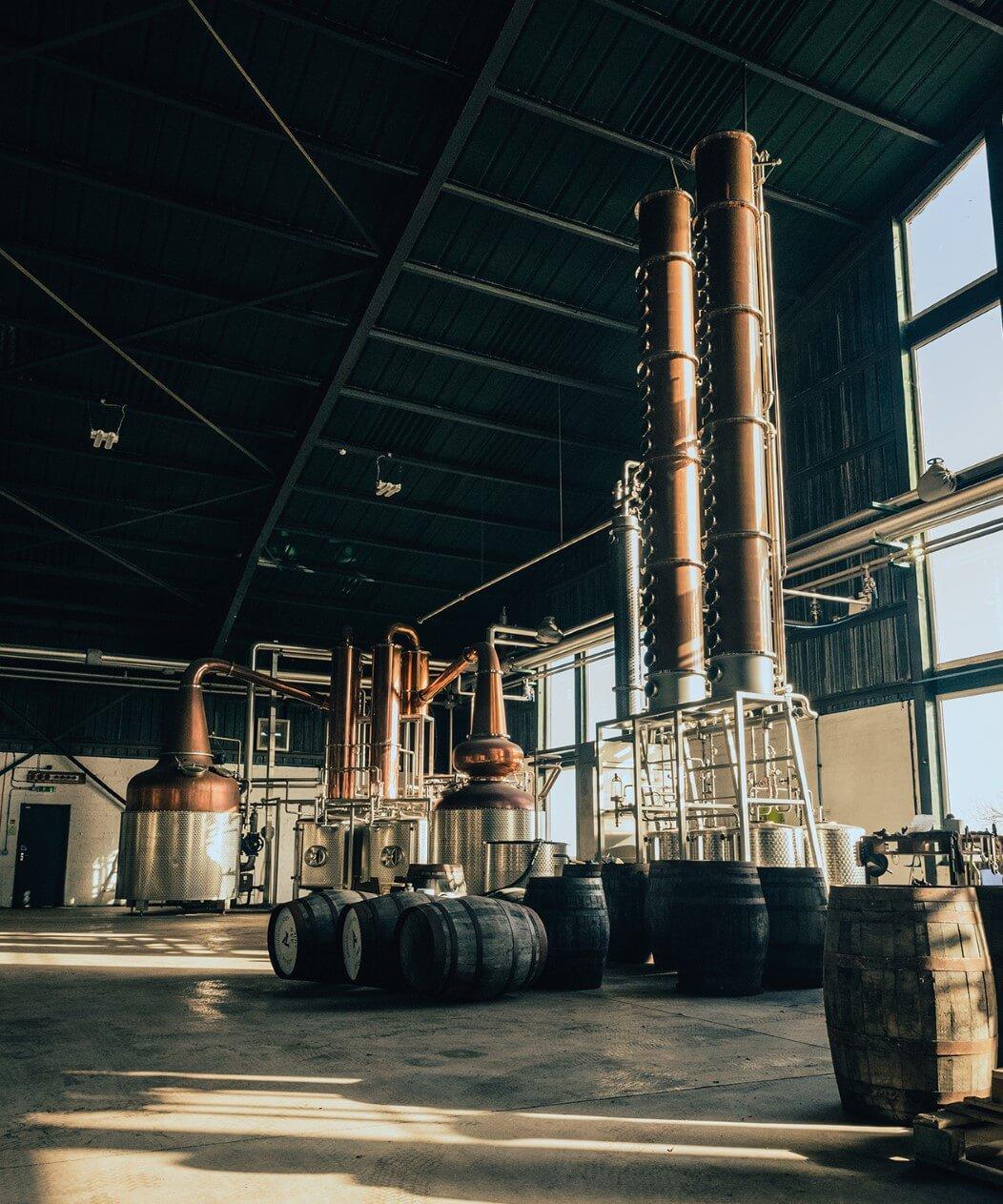 The still house at Arbikie Distillery