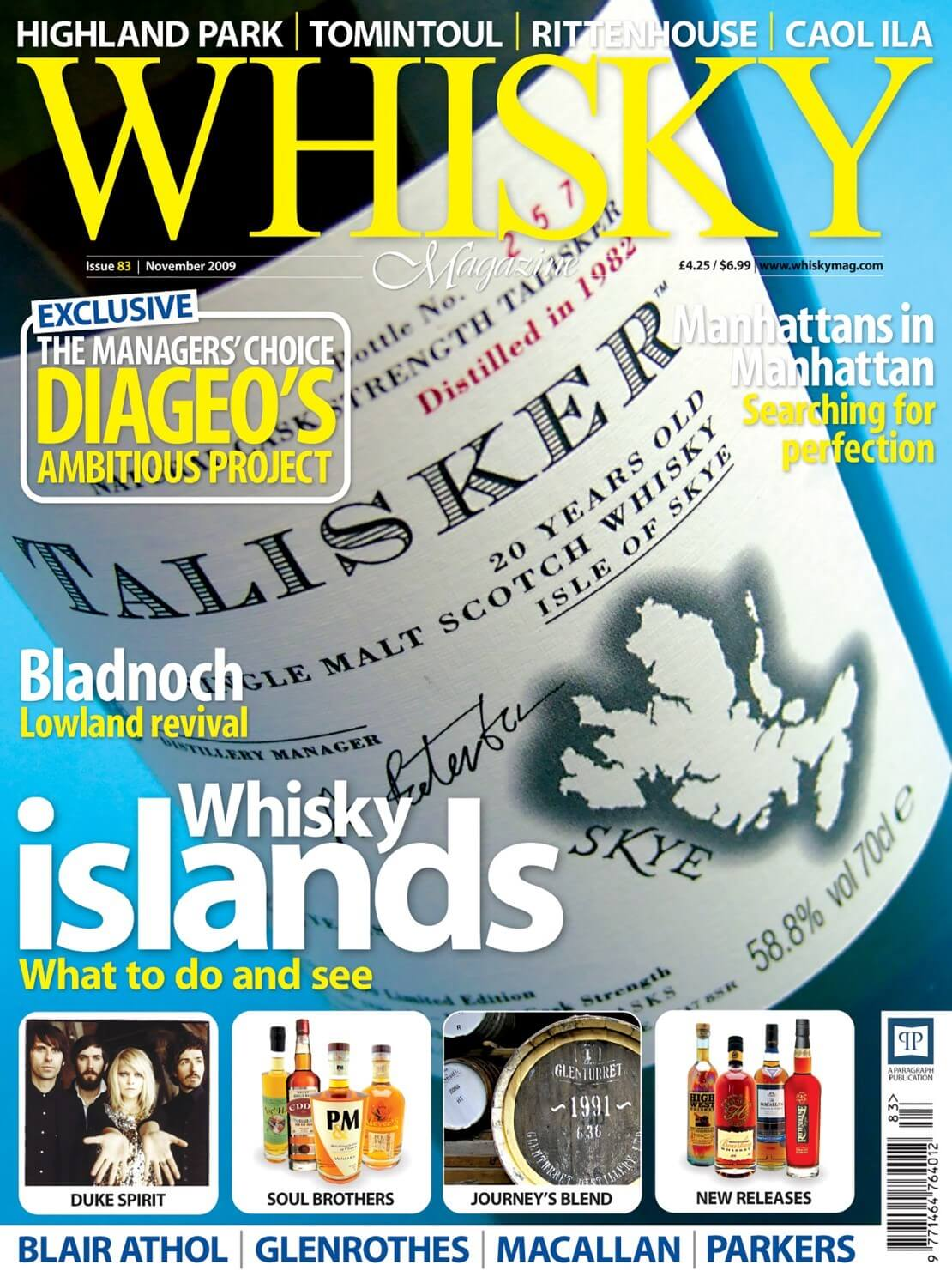 Exclusive - Diageo's Ambitious Project Bladnoch Manhattans in Manhattan Whisky Islands Blair Athol  Glenrothes Macallan