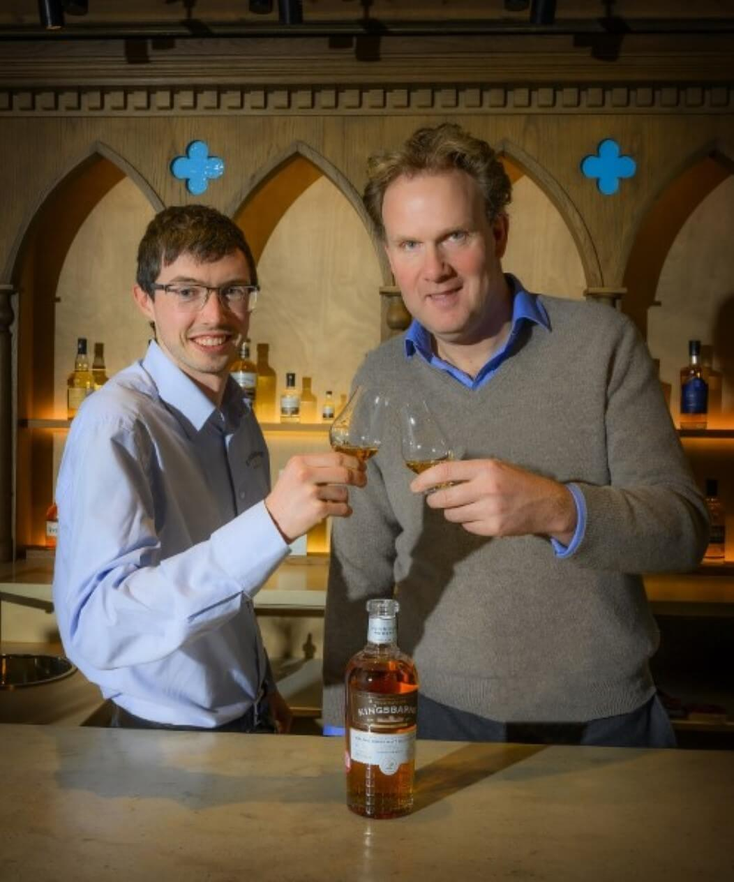 L – R is Peter Holroyd the Distillery Manager and William Wemyss from the Wemyss Family