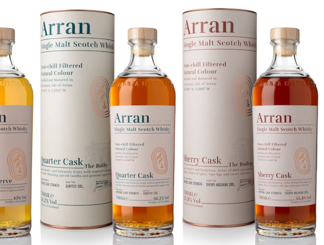 Two new expressions of Arran whisky were also announced