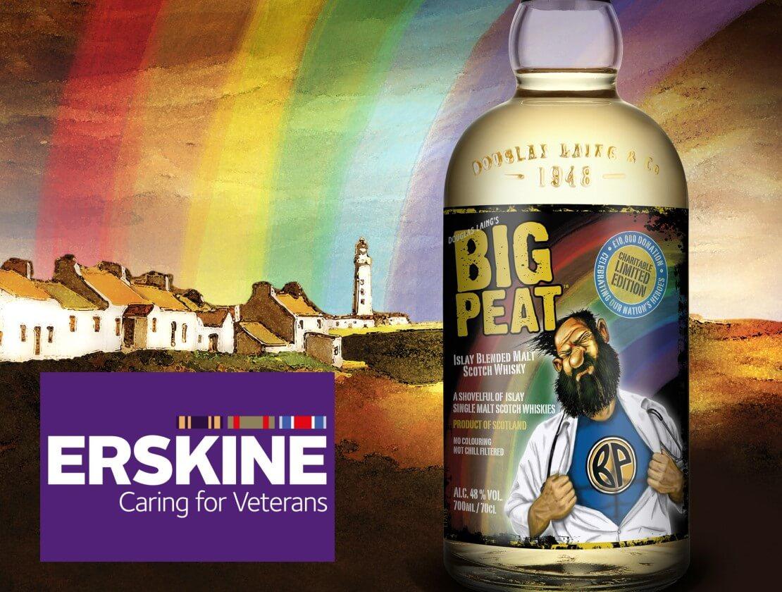 Big Peat donating sanitiser to military veterans charity Erskine