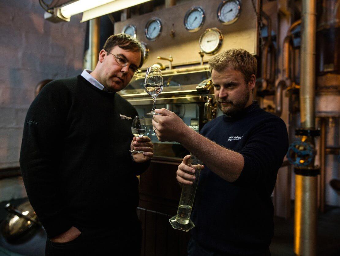 Bruichladdich production director Allan Logan with head distiller Adam Hannett.