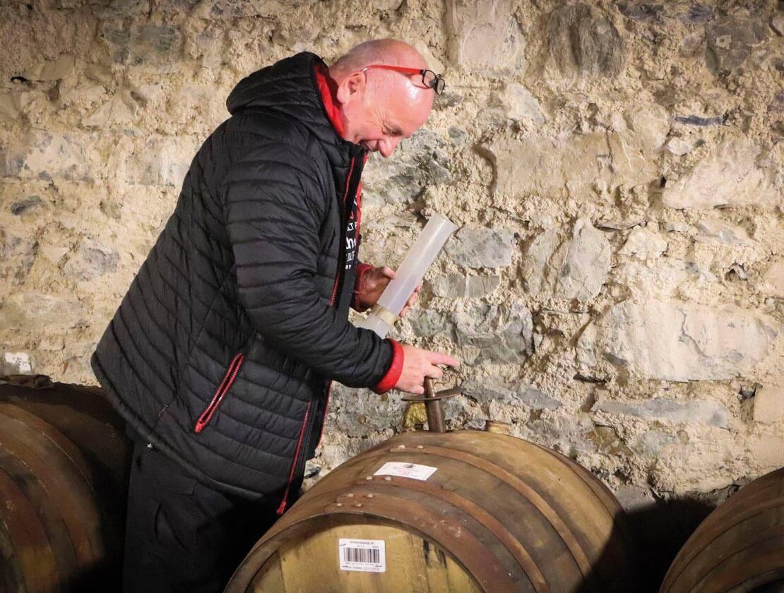 Sampling the maturing whisky