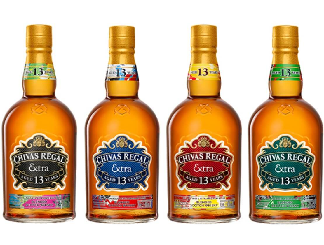 The Chivas Extra 13 collection includes one expression finished in tequila casks