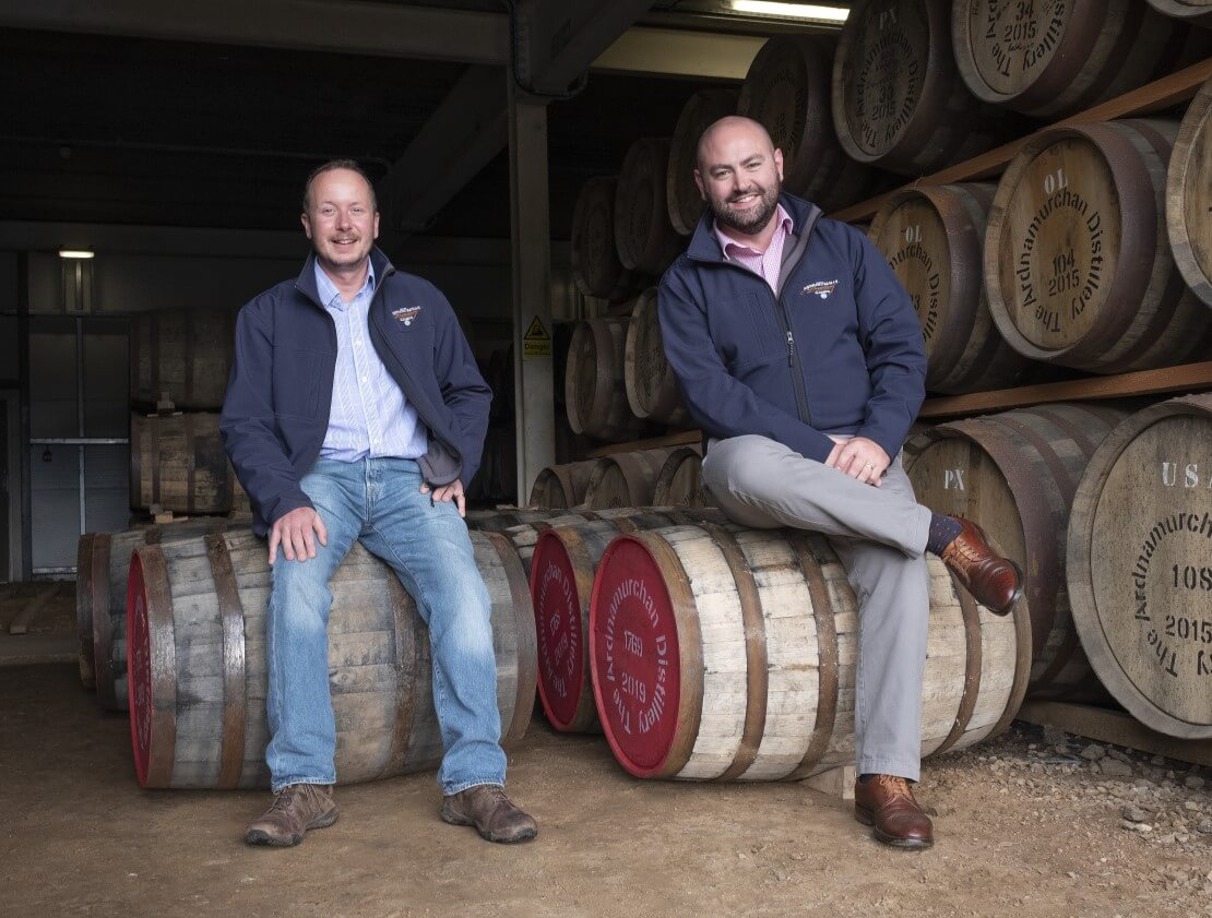 Ardnamurchan managing director Alex Bruce (L) and sales director Connal Mackenzie