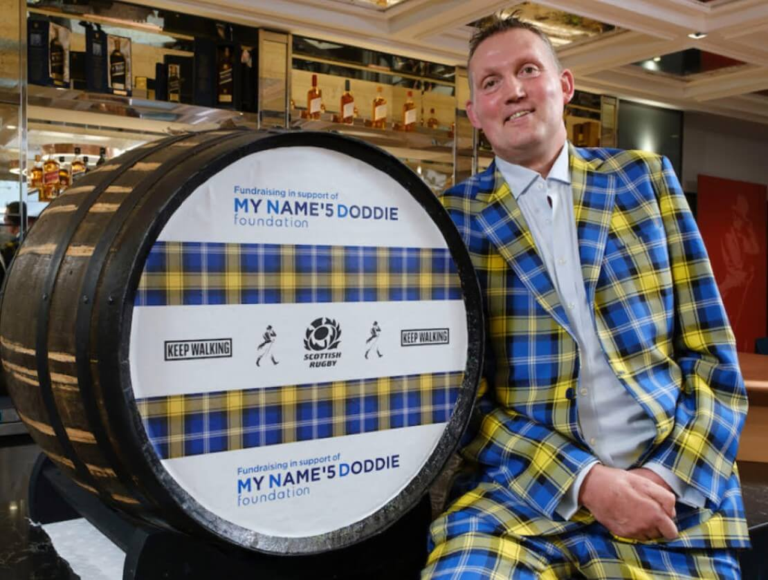 The whisky industry shows support for Doddie's Foundation