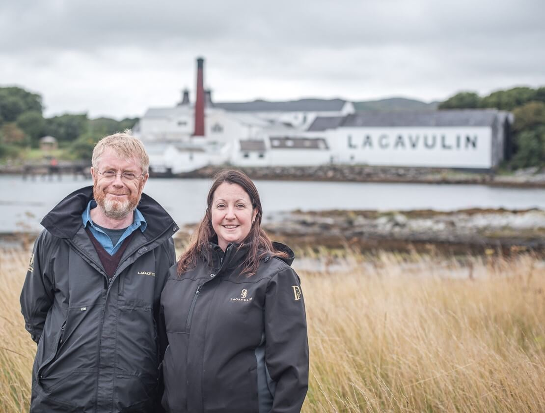 Dr Nick Morgan, Diageo Head of Whisky Outreach and Georgie Crawford, former Lagavulin Distillery Manager
