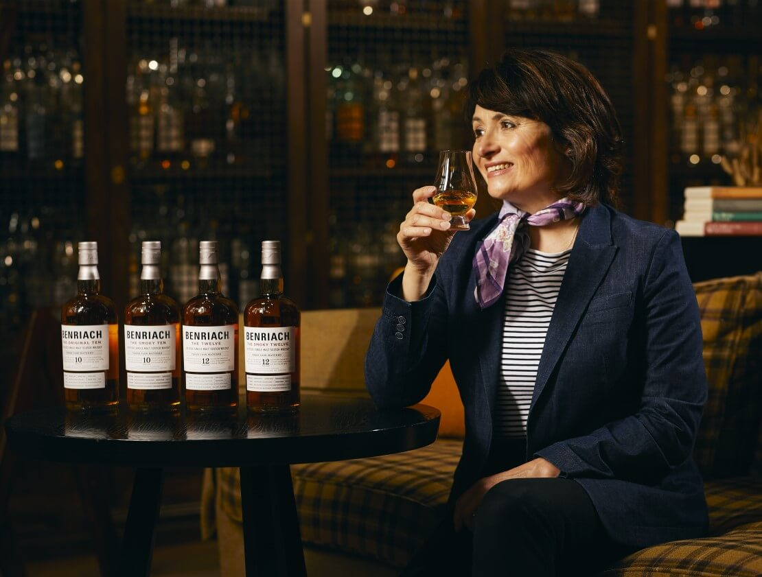 Benriach master blender Rachel Barrie and some of the new expressions.