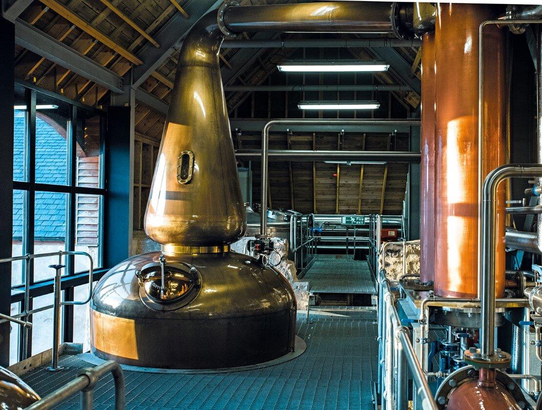 Nc'nean Distillery uses a biomass boiler and organic barley