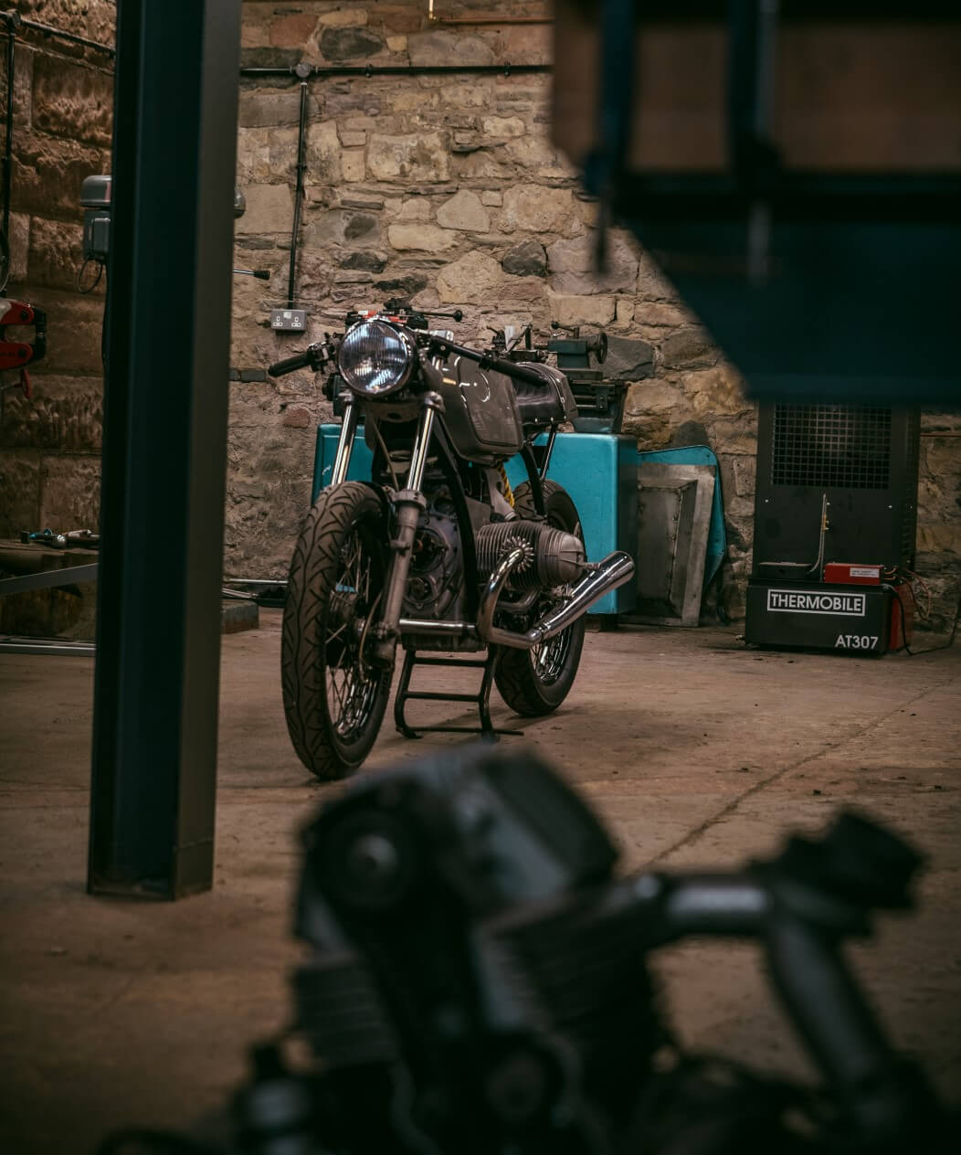 A bike in for work at Tyler's shop. Photo by Christopher Coates.