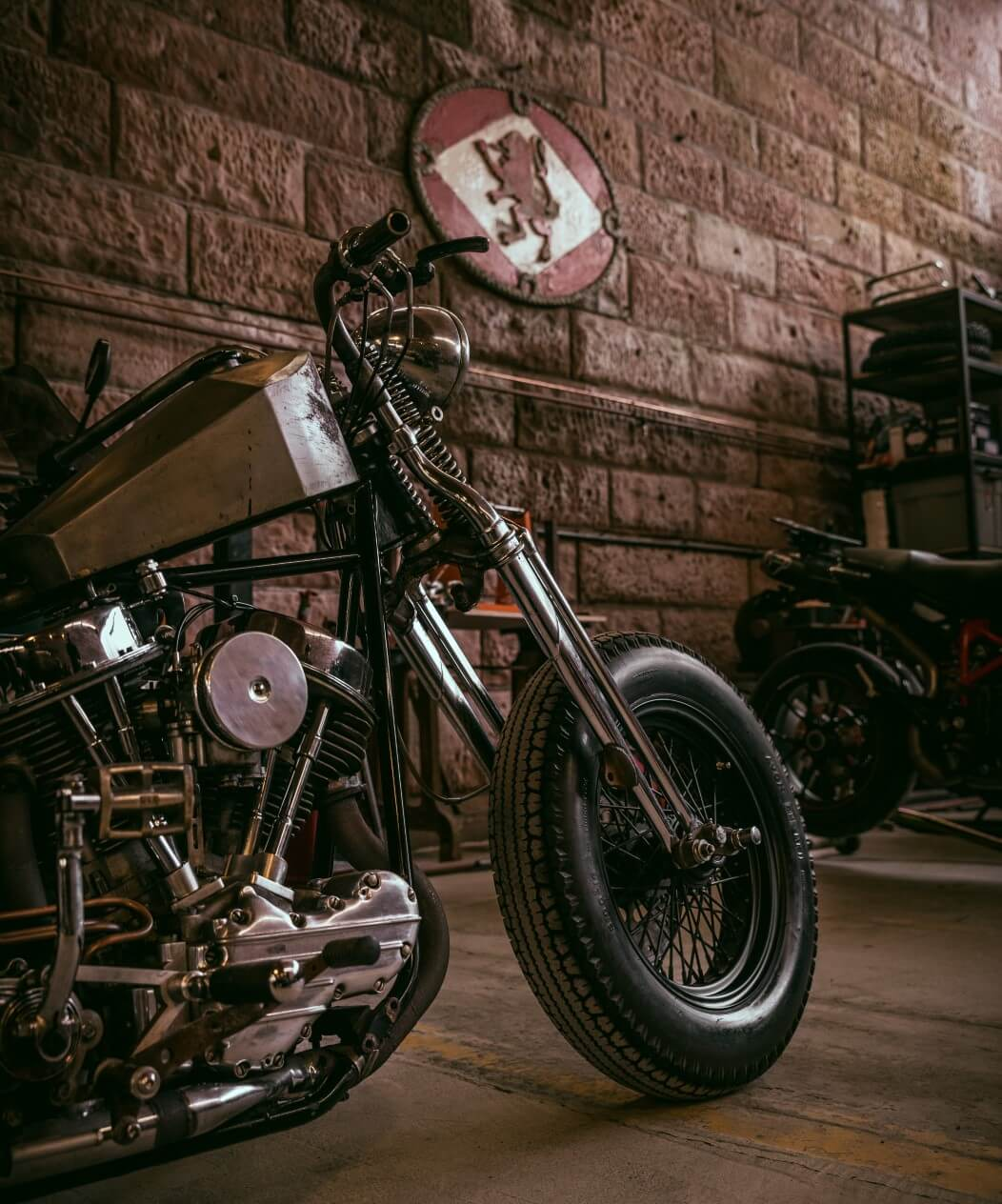A bike in Tyler's workshop. Photo by Christopher Coates.