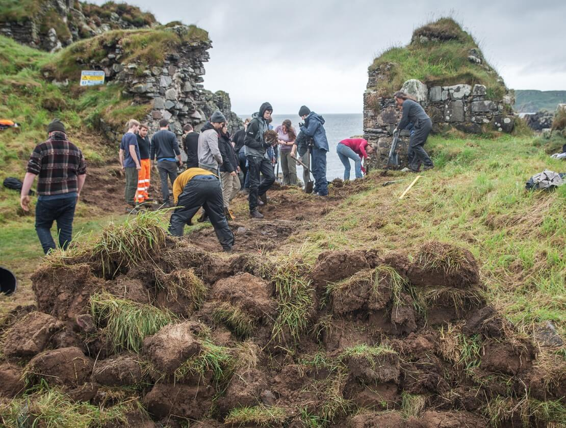 Excavation at Dunyvaig Castle