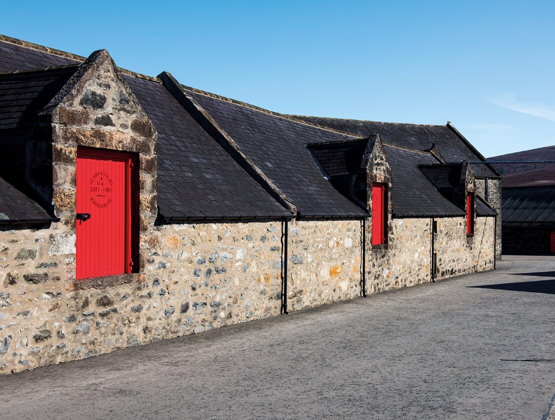 Glenfarclas and its red doors