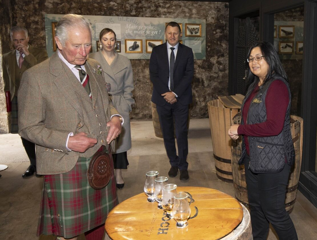 HRH The Prince Charles visits Glen Garioch Distillery during ongoing restoration and upgrade project