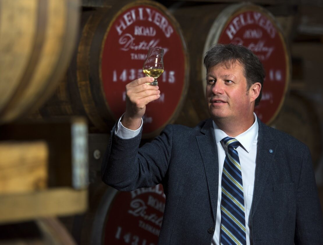 Hellyers Road master distiller Mark Littler.