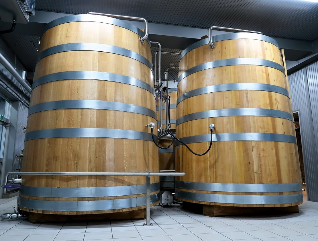 The wooden washbacks