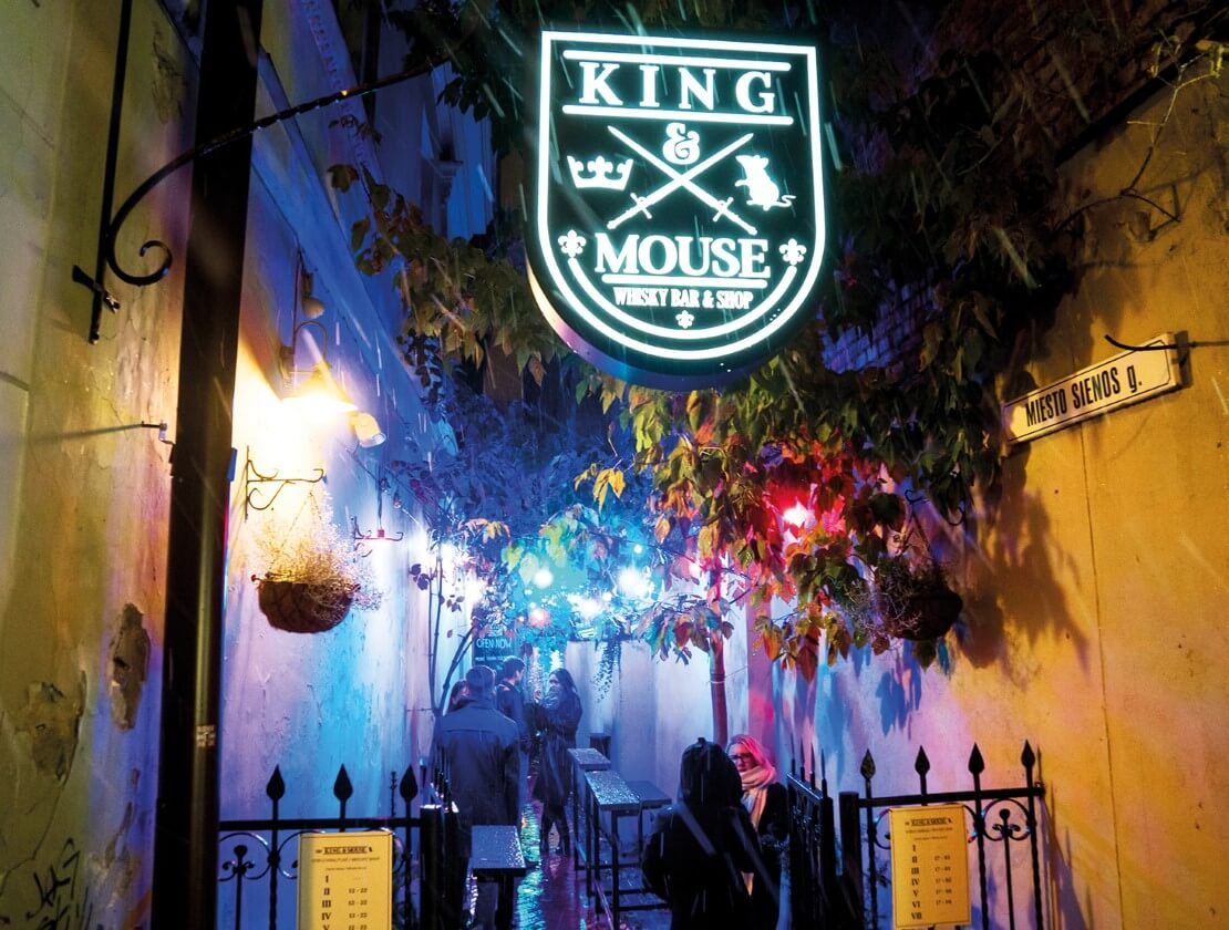 The entrance to the King and Mouse