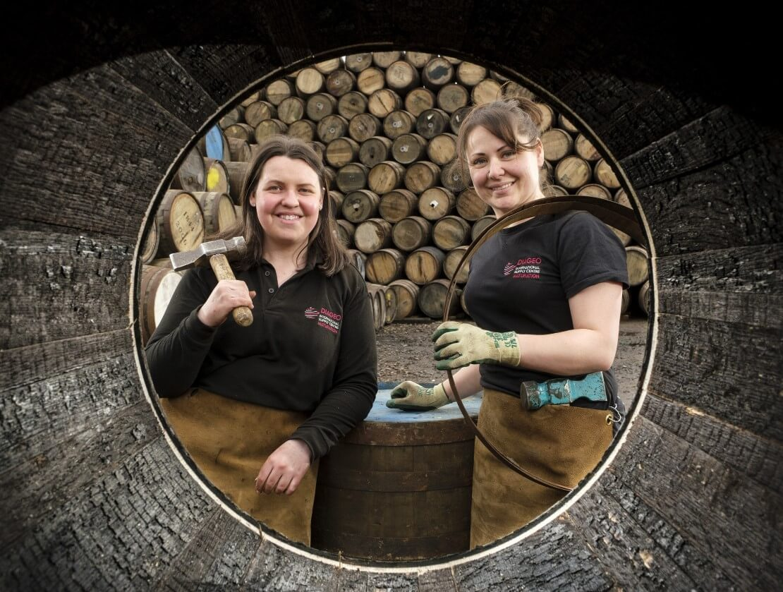 Diageo recruits the first female coopering apprentices