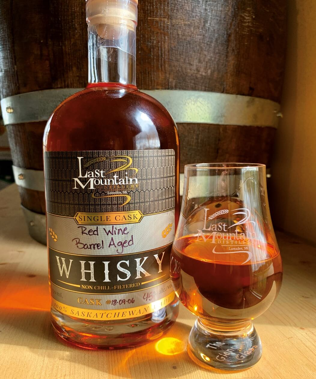 Last Mountain red wine aged whisky