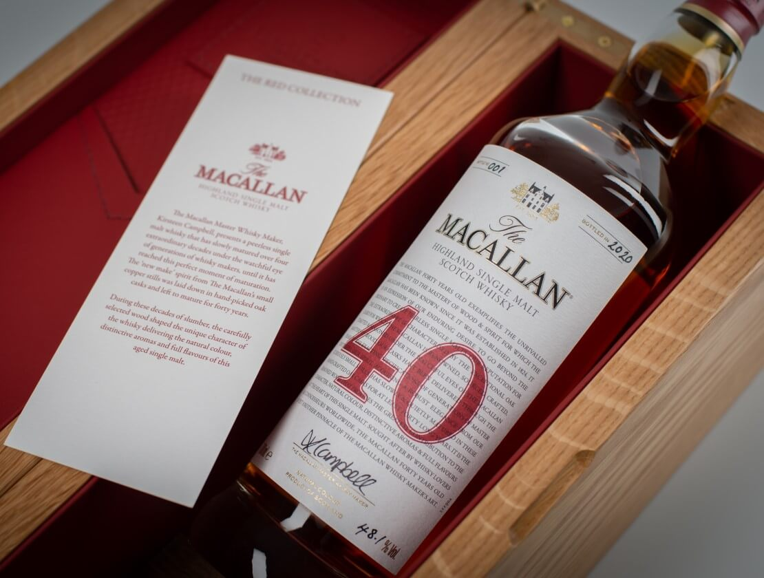 The Macallan 40 Years Old - part of the Red Collection.