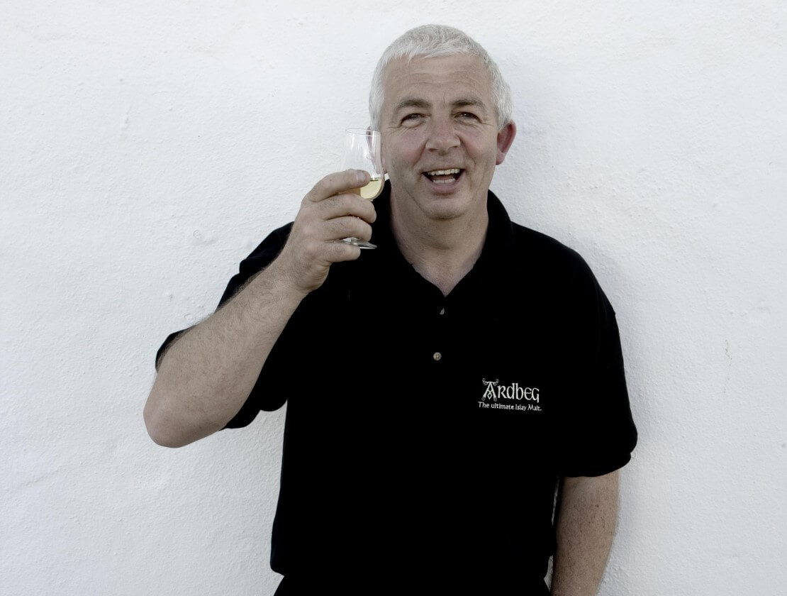 Retiring distillery manager Mickey Heads.