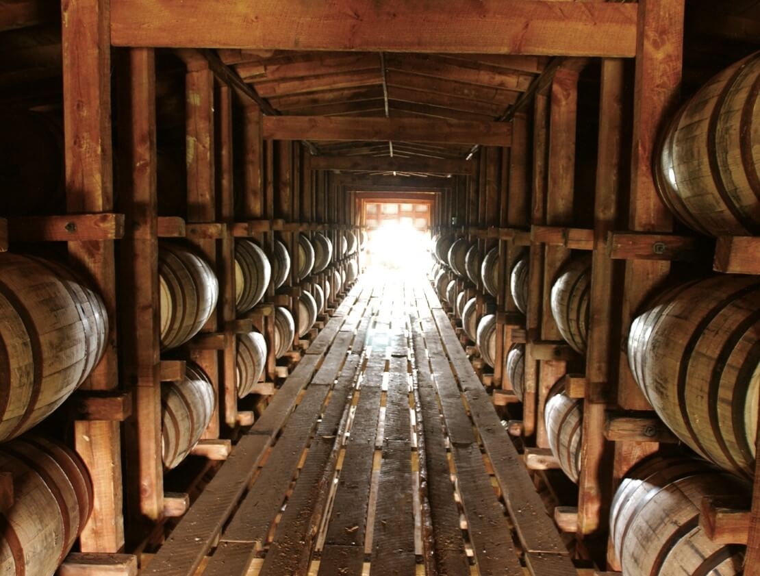 Inside a Bourbon rickhouse