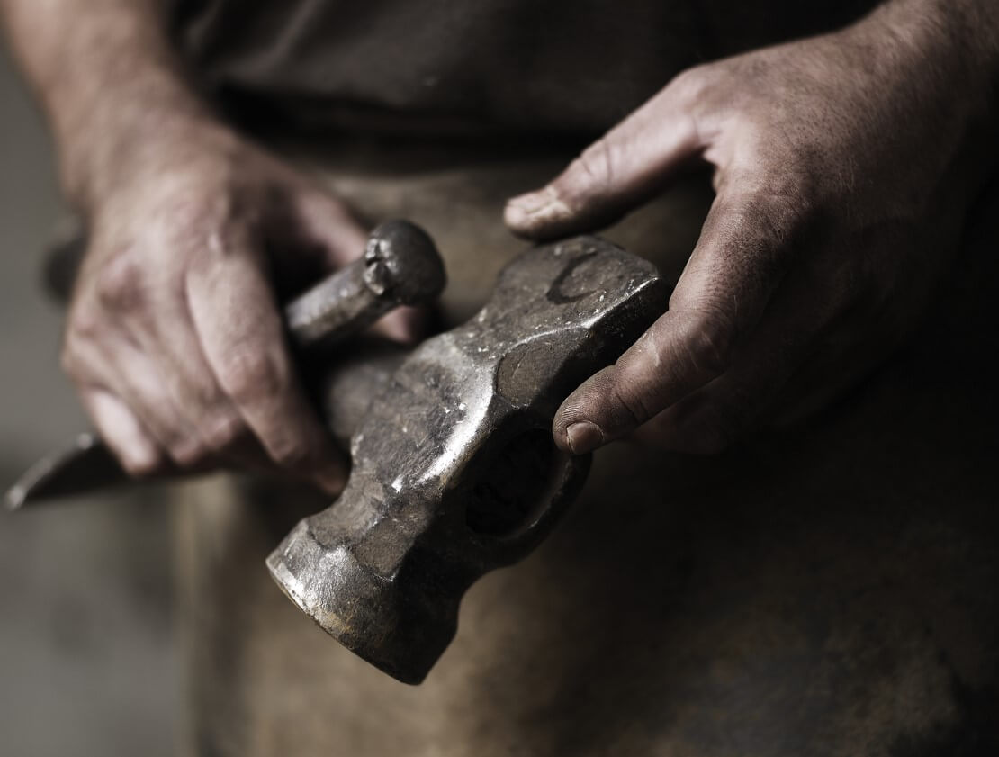 The cooper's tools of the cask making trade