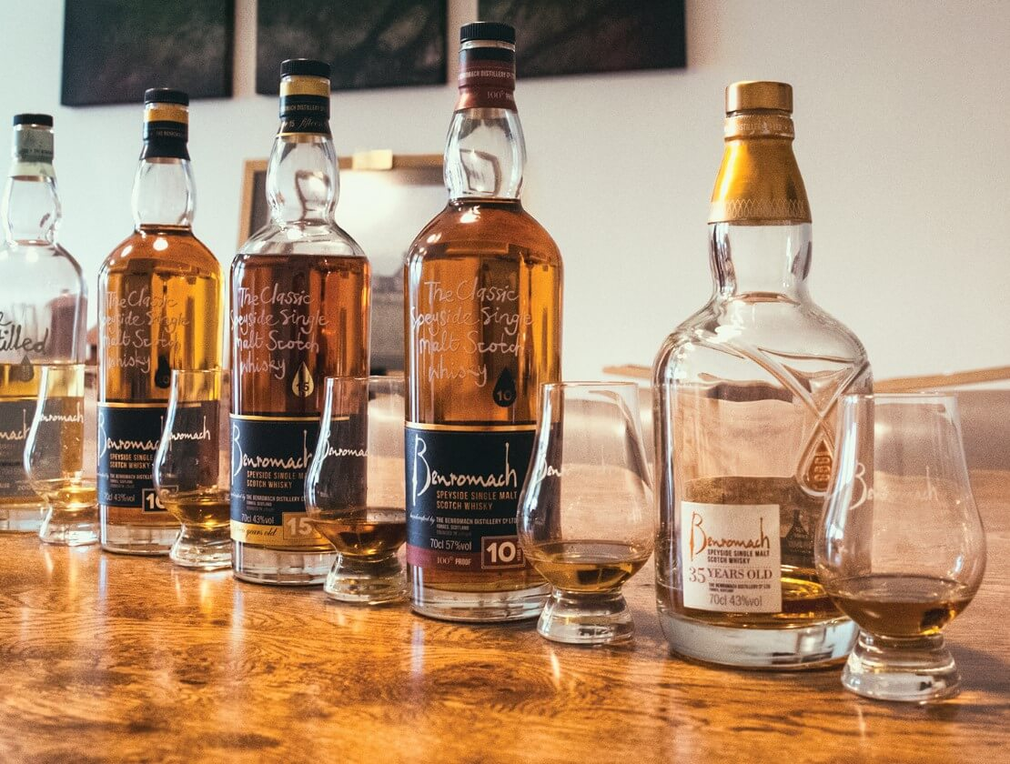The Benromach line up