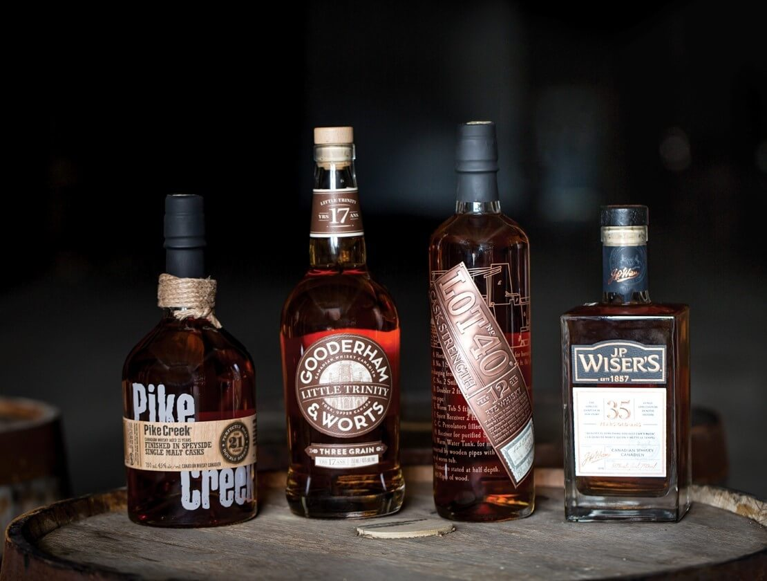 The current whisky line up