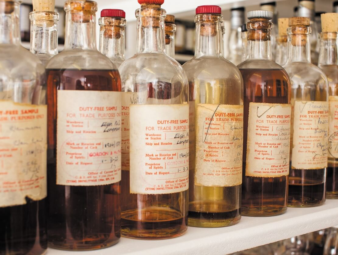Liquid history in the sample room