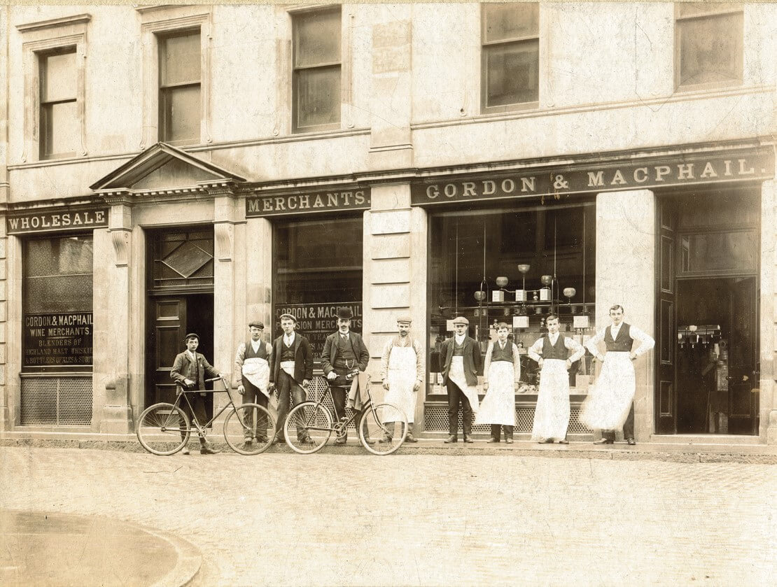 Outside Gordon & MacPhail in the past