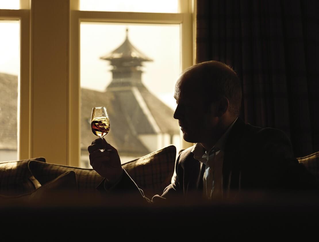 Sampling the whisky at Glengoyne