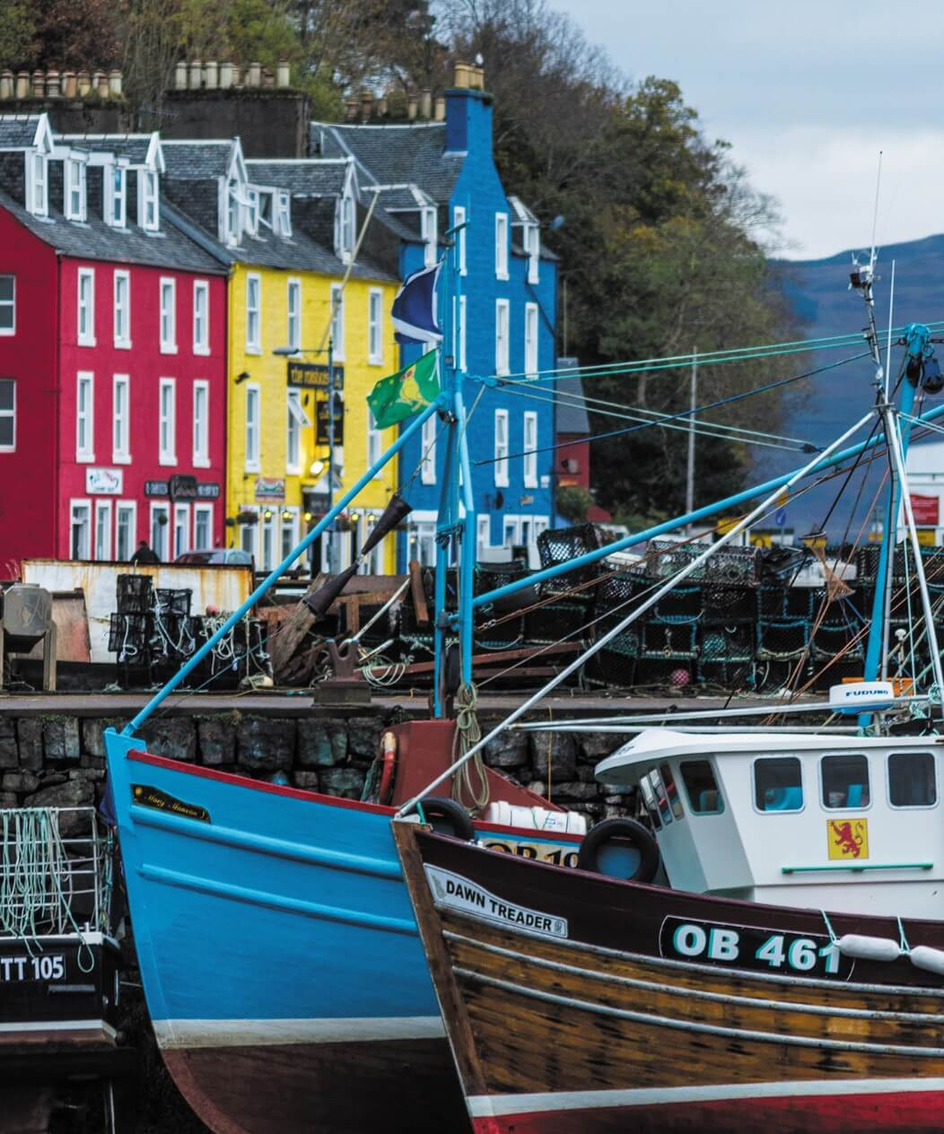 The harbour at Tobermory on Mull