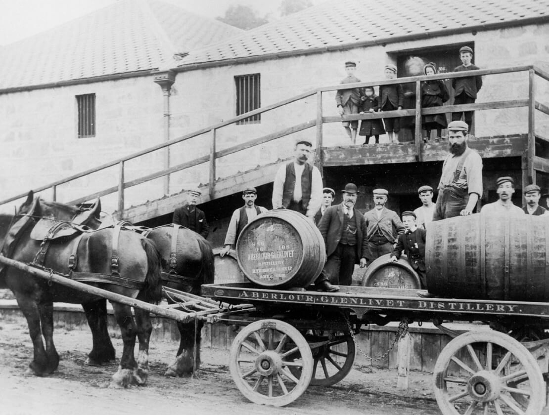 Outside the warehouse at Aberlour Distillery