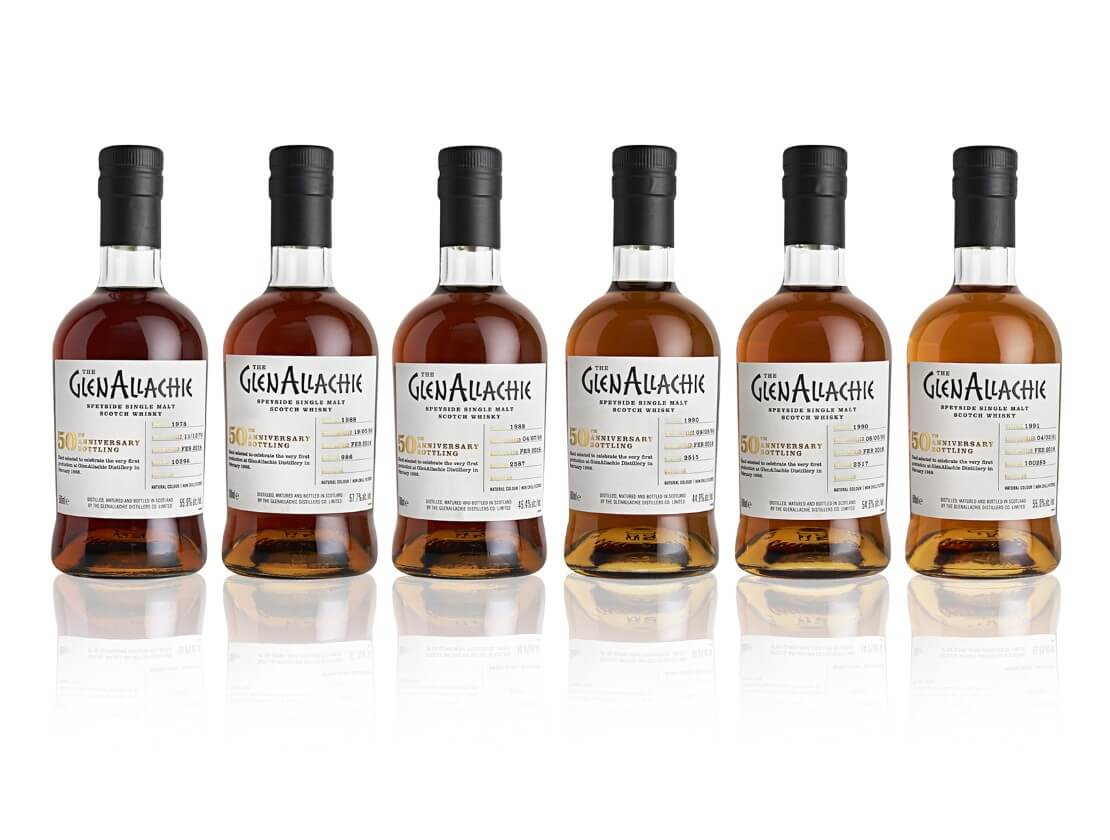 The Glenallachie 50th anniversary range