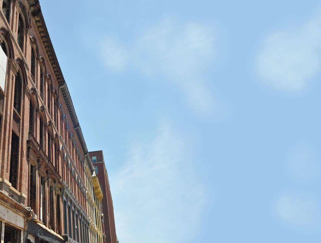 The facades of Whiskey Row