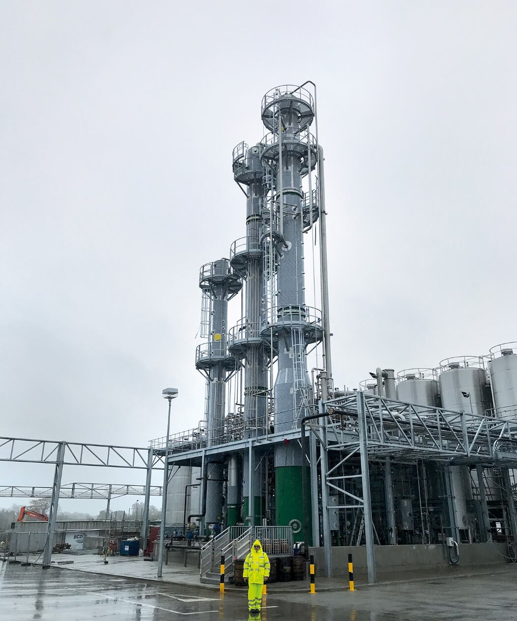 The new grain distillery