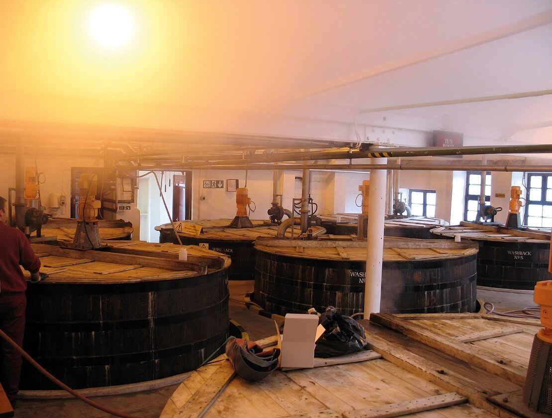 The mash room at Strathisla Distillery