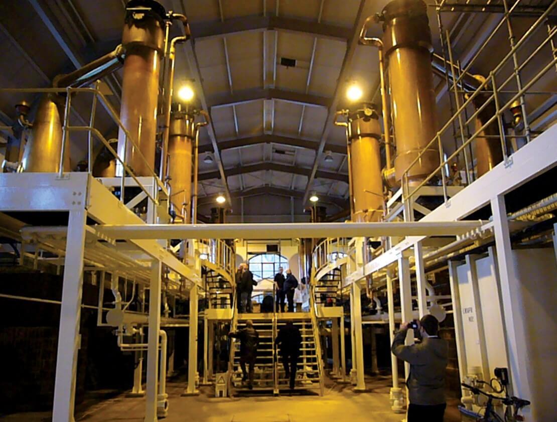 The still house at Glenrothes Distillery