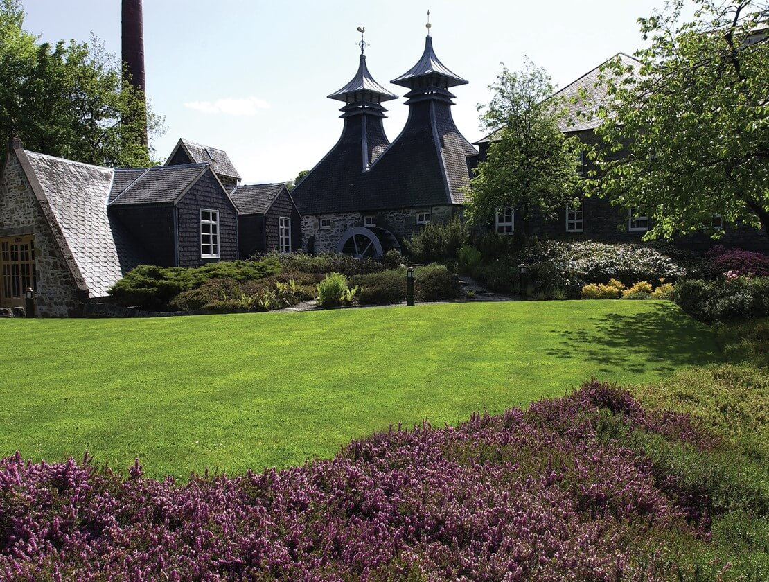 The beautiful surroundings of Strathisla Distillery