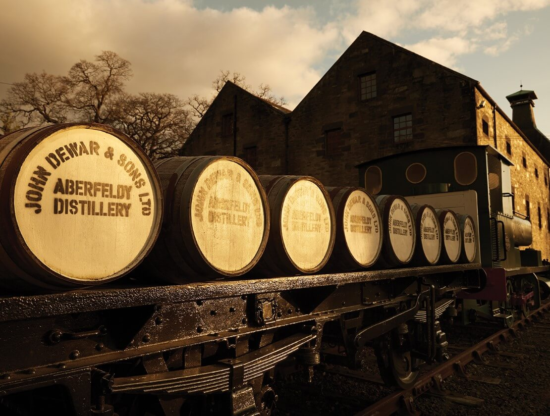 Outside Aberfeldy Distillery