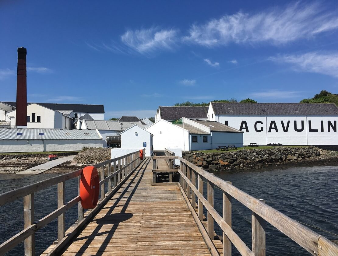 Approaching Lagavulin Distillery