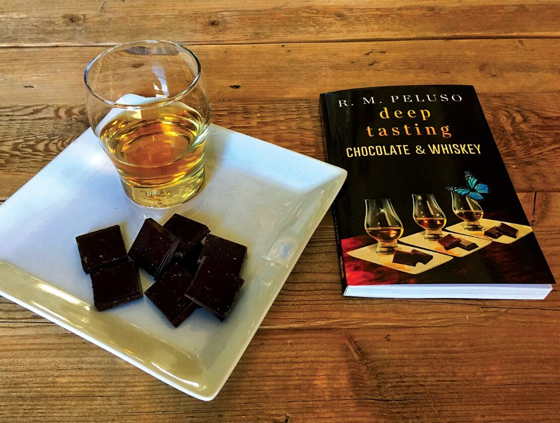 Dark chocolate, a dram and the book in question