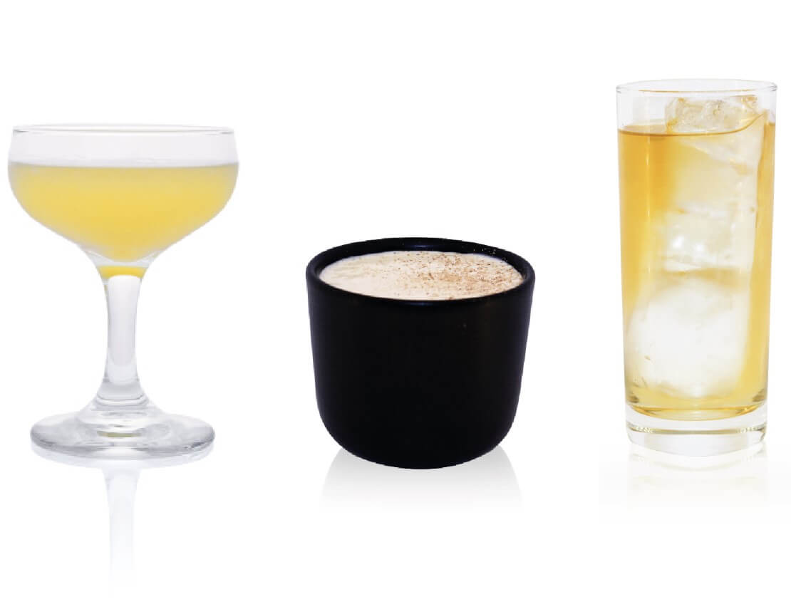 The Cocktails: Different Thickets; Nut, Bean, Grain; Cypress Soda