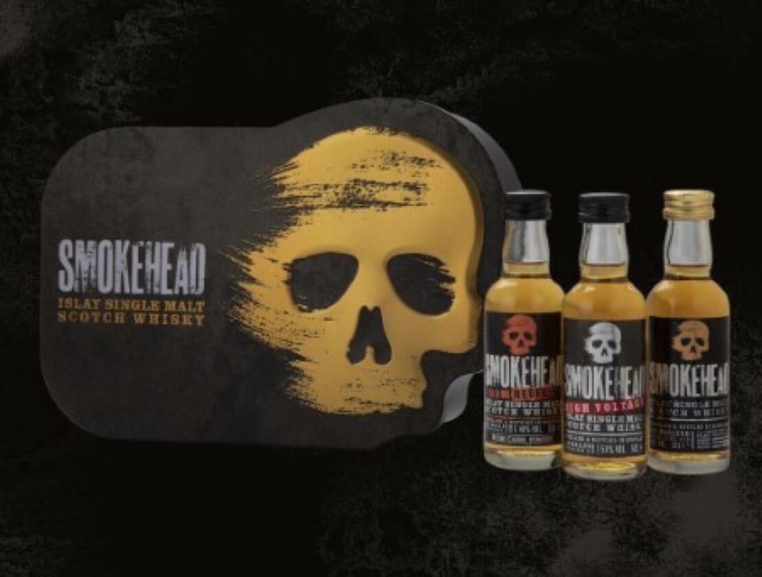 The Smokehead whisky gift tin.