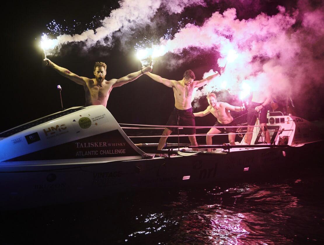 The winning boat