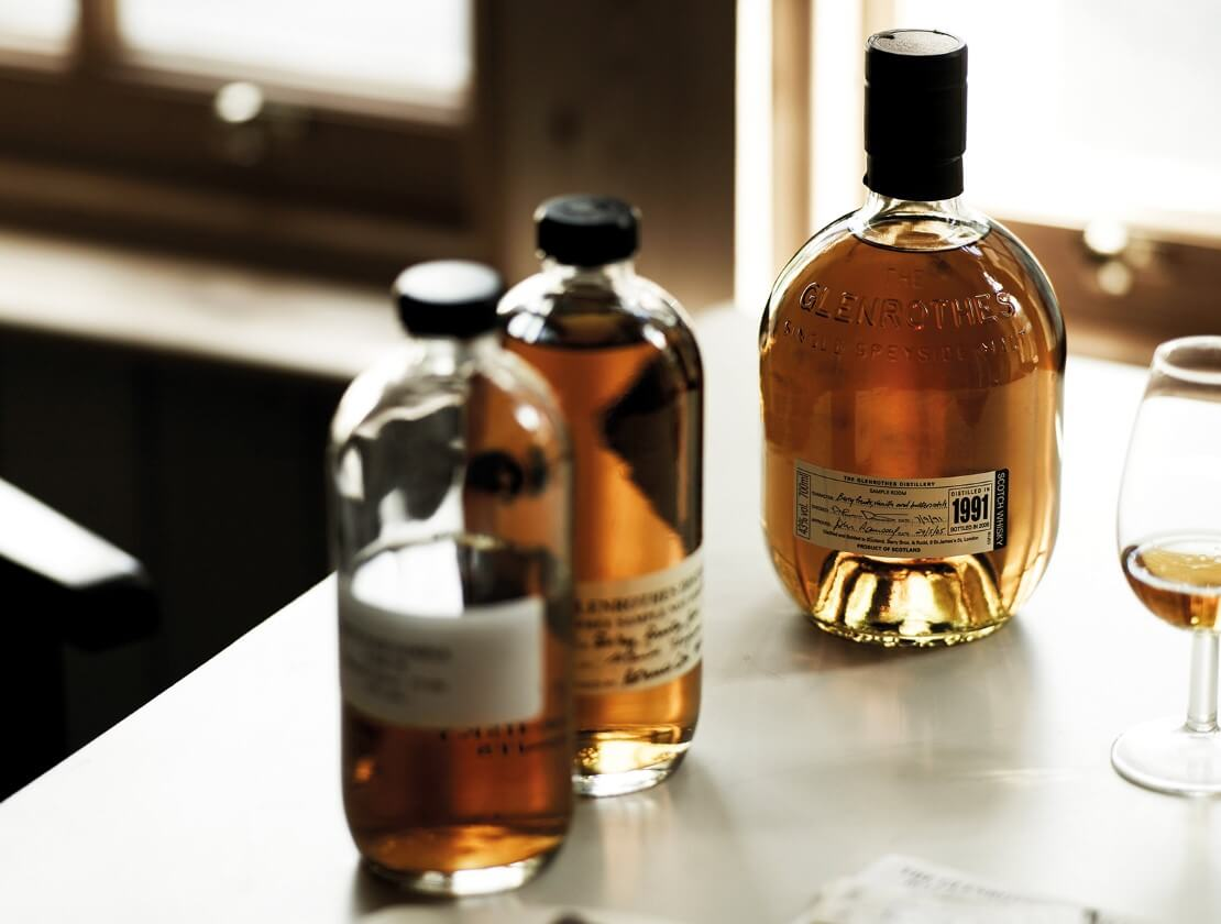 Samples and the final bottling of Glenrothes 1991